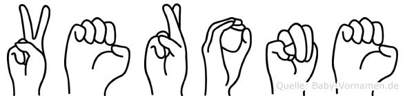 Verone in Fingersprache für Gehörlose