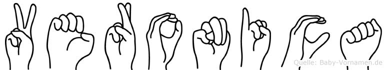 Veronica in Fingersprache für Gehörlose