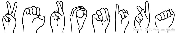 Veronika in Fingersprache für Gehörlose