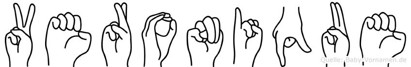 Veronique in Fingersprache für Gehörlose