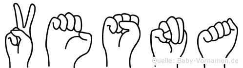 Vesna im Fingeralphabet der Deutschen Gebärdensprache