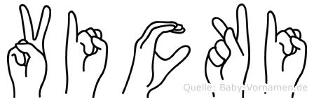 Vicki in Fingersprache für Gehörlose