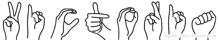 Victoria in Fingersprache für Gehörlose