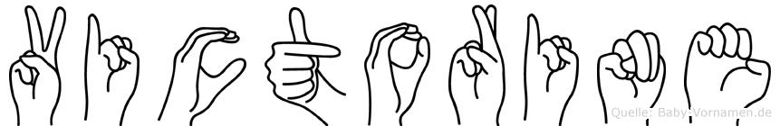 Victorine in Fingersprache für Gehörlose