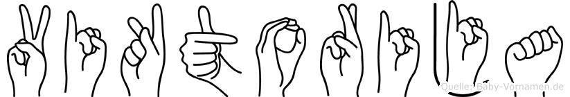 Viktorija im Fingeralphabet der Deutschen Gebärdensprache