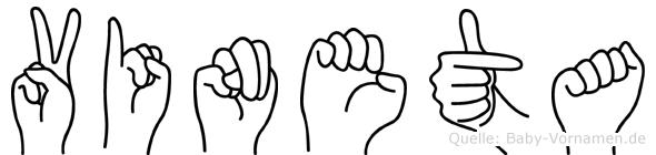 Vineta in Fingersprache für Gehörlose