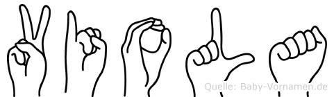 Viola in Fingersprache für Gehörlose