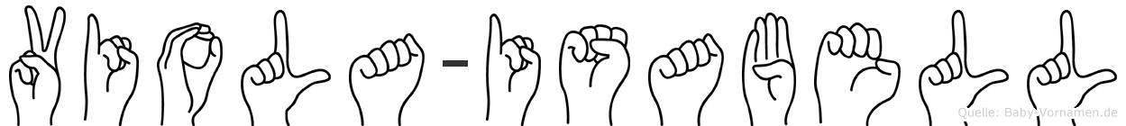 Viola-Isabell im Fingeralphabet der Deutschen Gebärdensprache