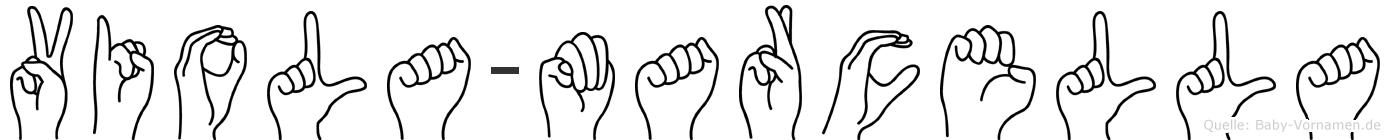 Viola-Marcella im Fingeralphabet der Deutschen Gebärdensprache