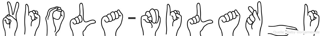 Viola-Nilakhi im Fingeralphabet der Deutschen Gebärdensprache