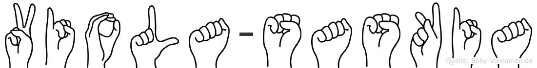 Viola-Saskia im Fingeralphabet der Deutschen Gebärdensprache