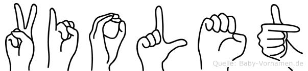 Violet in Fingersprache für Gehörlose