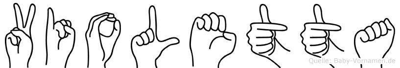 Violetta in Fingersprache für Gehörlose