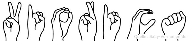 Viorica im Fingeralphabet der Deutschen Gebärdensprache