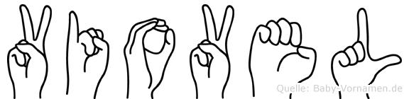Viovel im Fingeralphabet der Deutschen Gebärdensprache