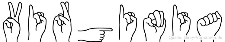 Virginia in Fingersprache für Gehörlose