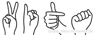 Vita in Fingersprache für Gehörlose