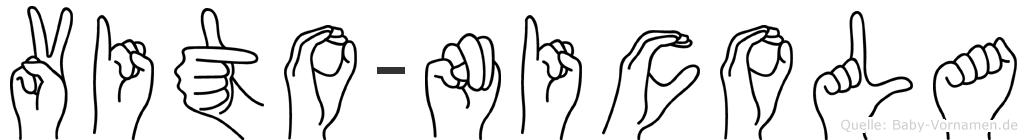 Vito-Nicola im Fingeralphabet der Deutschen Gebärdensprache