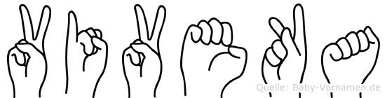 Viveka in Fingersprache für Gehörlose