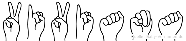 Viviana im Fingeralphabet der Deutschen Gebärdensprache