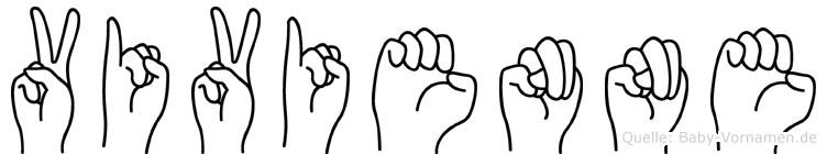 Vivienne im Fingeralphabet der Deutschen Gebärdensprache