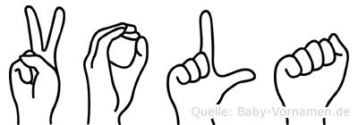 Vola in Fingersprache für Gehörlose