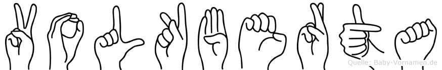 Volkberta im Fingeralphabet der Deutschen Gebärdensprache