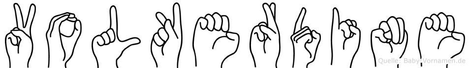 Volkerdine im Fingeralphabet der Deutschen Gebärdensprache