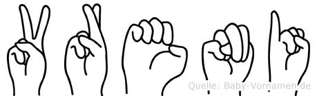 Vreni im Fingeralphabet der Deutschen Gebärdensprache