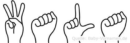 Wala in Fingersprache für Gehörlose