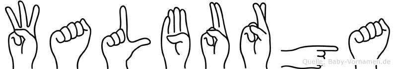 Walburga im Fingeralphabet der Deutschen Gebärdensprache