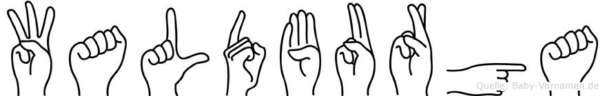 Waldburga in Fingersprache für Gehörlose