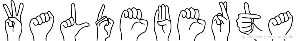 Waldeberta in Fingersprache für Gehörlose