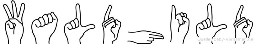 Waldhild in Fingersprache für Gehörlose