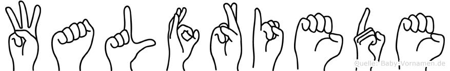 Walfriede in Fingersprache für Gehörlose