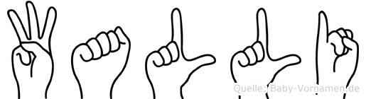 Walli in Fingersprache für Gehörlose