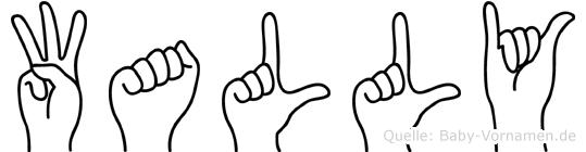 Wally in Fingersprache für Gehörlose