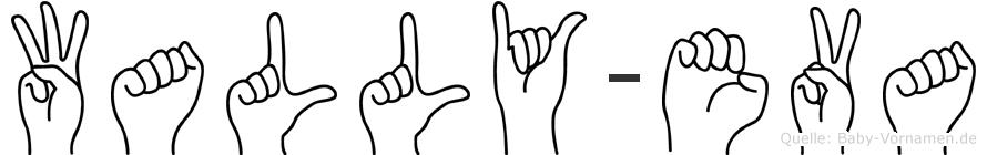 Wally-Eva im Fingeralphabet der Deutschen Gebärdensprache