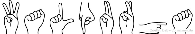 Walpurga im Fingeralphabet der Deutschen Gebärdensprache