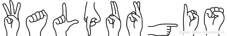 Walpurgis in Fingersprache für Gehörlose