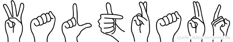 Waltraud in Fingersprache für Gehörlose