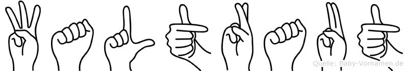 Waltraut im Fingeralphabet der Deutschen Gebärdensprache
