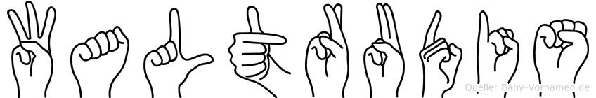 Waltrudis im Fingeralphabet der Deutschen Gebärdensprache