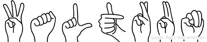 Waltrun in Fingersprache für Gehörlose