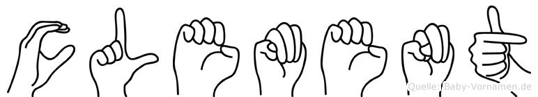 Clement in Fingersprache für Gehörlose
