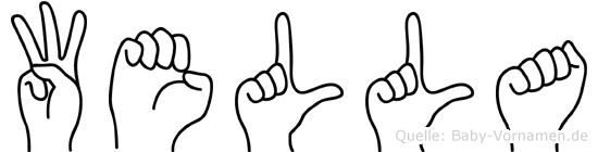 Wella im Fingeralphabet der Deutschen Gebärdensprache