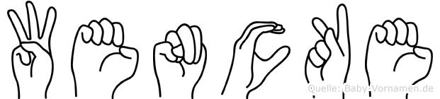 Wencke in Fingersprache für Gehörlose