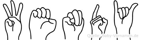 Wendy in Fingersprache für Gehörlose
