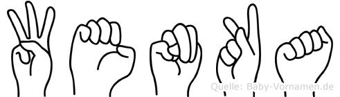 Wenka in Fingersprache für Gehörlose