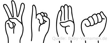 Wiba im Fingeralphabet der Deutschen Gebärdensprache
